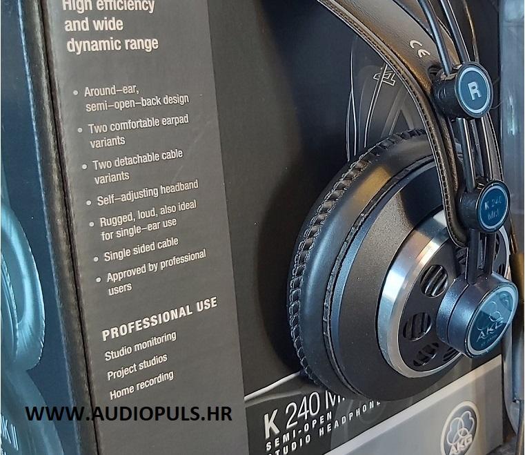 AKG K240 MK2, headphone and the box