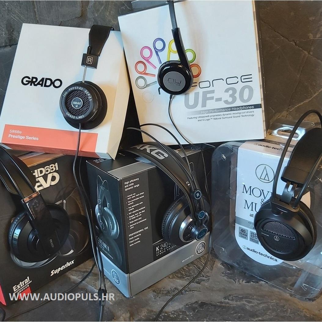 AKG K240 MK2, Audio Technica ATH-AVA400, Grado SR60E, NuForce UF-30, Superlux HD681 EVO
