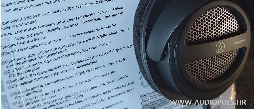 Audio Technica AVA 400 headphones, black